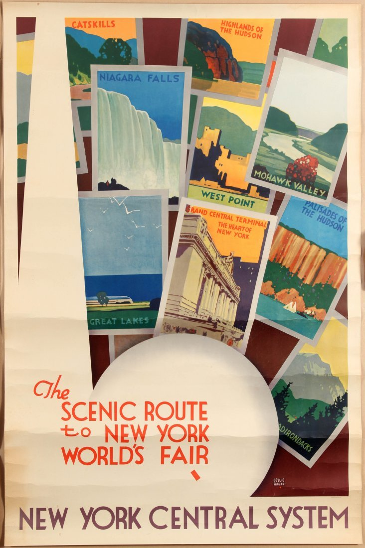 Travel Poster The Scenic Route to New York World's Fair