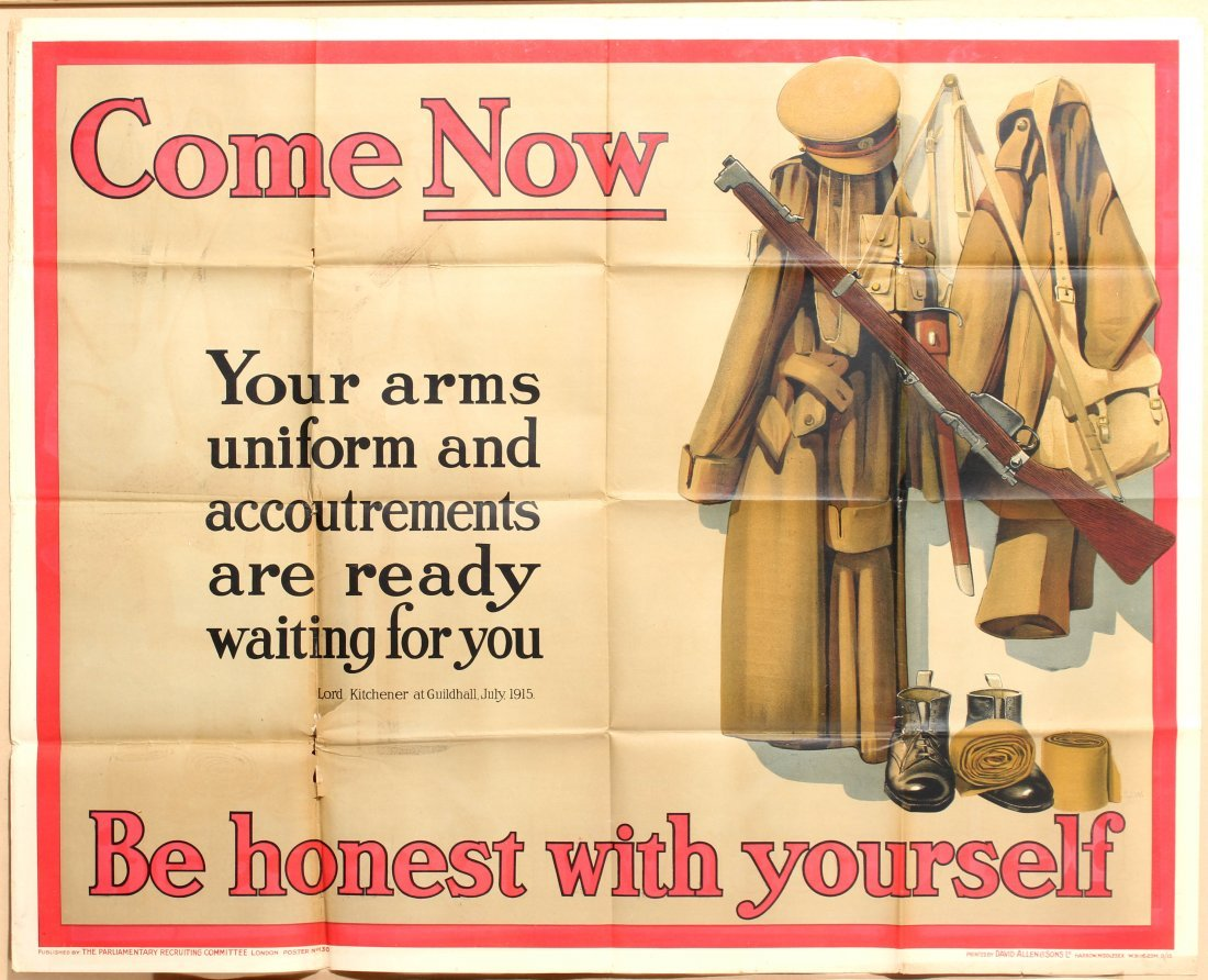 Propaganda poster Come Now Be Honest with yourself