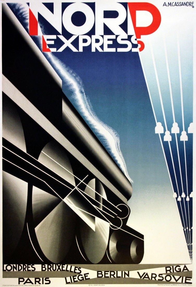Lithograph Poster Nord Express Art Deco Cassandre