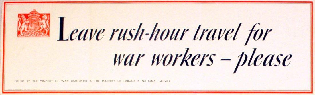 Propaganda Poster War Home Front London Transport WWII