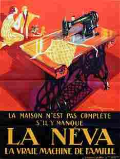 Advertising Poster La Neva Art Deco