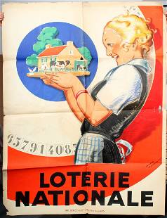 Art Deco Poster National Lottery Rene Vincent Large