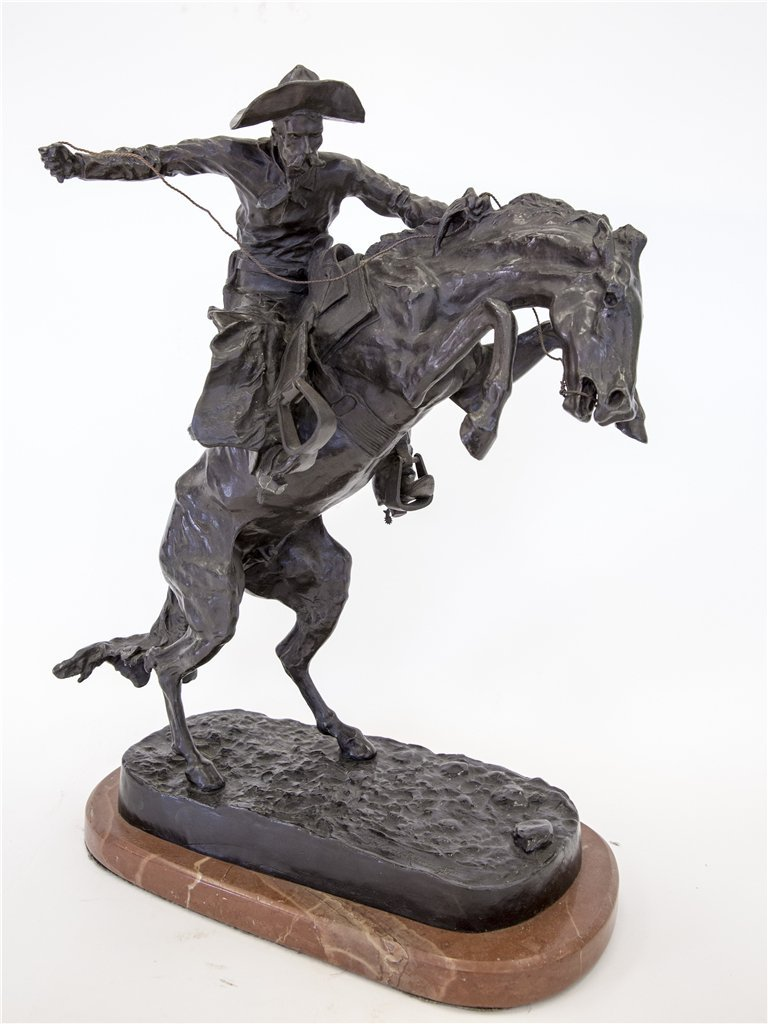 "FREDERICK REMINGTON (AFTER) BRONZE ""BRONCO BUSTER"""