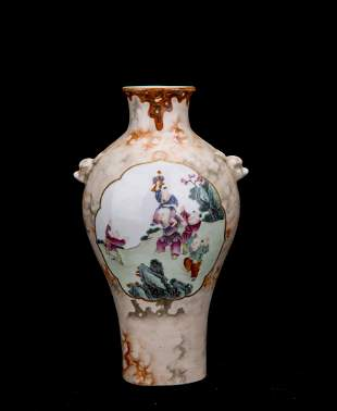 A CHINESE FAMILLE-ROSE VASE
