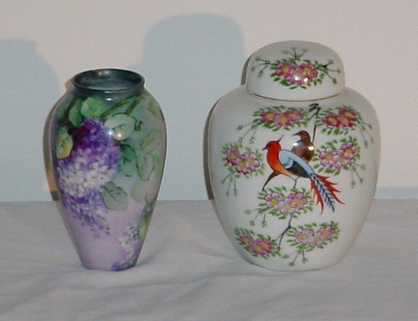3: Chinese export porcelain covered jar and a Continent