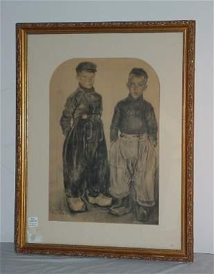 """Kees (Cornelius) Bolding, Dutch 1897-1979 """"Volendam"""""""