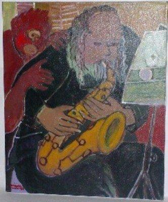 "8: Harry Jacques (Arijac) Haiti b. 1937 ""La Note Blanch"