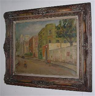 Oscar Soldati, Argentina 19th/20th century oil on c