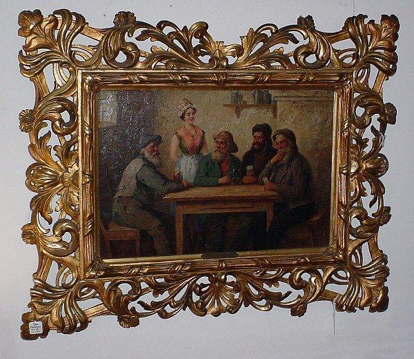 "14: Axel Svensen, 19th/20th century oil on canvas ""Tave"
