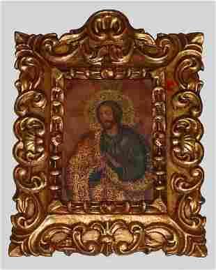 "18th century style Cusco school oil on canvas ""Jesu"