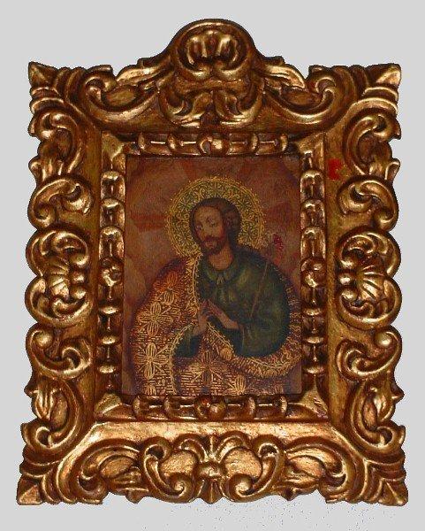 "21: 18th century style Cusco school oil on canvas ""Jesu"