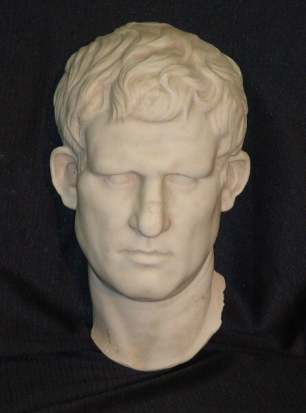 373: Composition wall mounted bust of Agrippa, after th