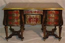 484: Fine 19th C Louis XIV style Boulle Bureau Mazarin,
