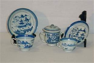 5 Pieces Chinese Export porcelain, 19th & 20th C. Su