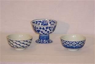 3 Pieces Japanese Export porcelain bowls. Largest: 6