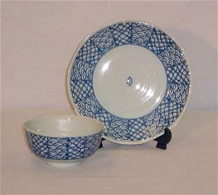 "2 Pieces Japanese Export porcelain. Plate: 9"" [20/40"