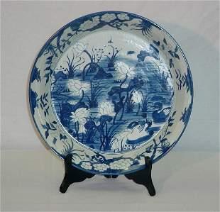 Large Chinese export porcelain charger. Kangxi, circ