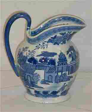 """Chinese Export porcelain pitcher. H: 9 3/4"""" [50/100]"""