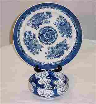 2 Pieces Chinese Export porcelain, 19th & 20th C.