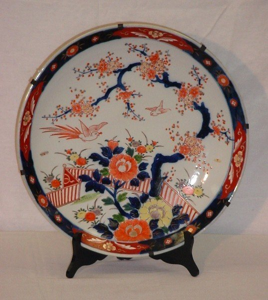 18: Japanese Imari porcelain charger, Late Meiji Period