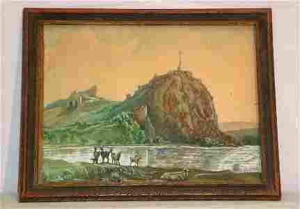 112: 20th C W/C American school Landscape, bears signat