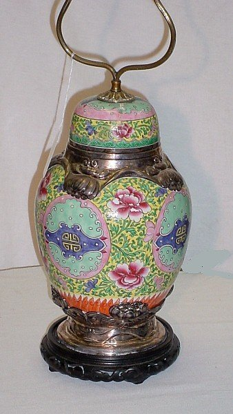 411: 19th C Chinese export famille rose porcelain and F