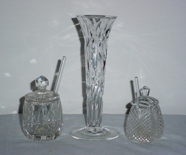 5: Two-pieces of cut glass