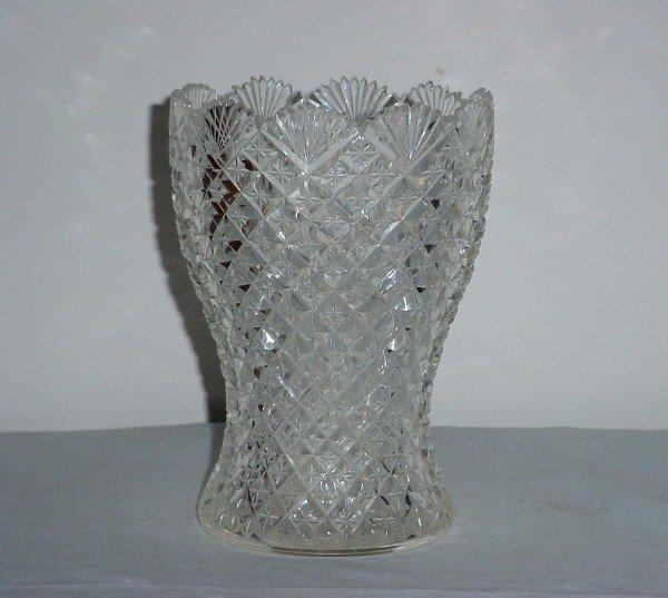 7: Cut glass vase.