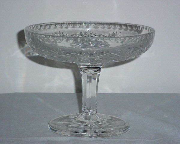 8: Cut glass compote.