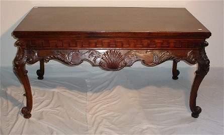 147: 19th C Irish Chippendale mahogany center table