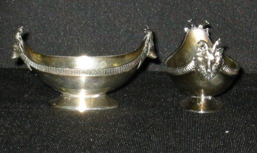 13: Two Wilcox silver salts.