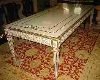 219: 19th c Italian carved and painted inlaid marble-to