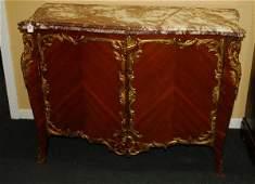19th c Louis XV style bronzemounted kingwood marble