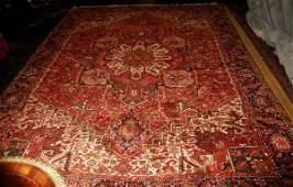"Antique Persian Heriz carpet. 11' 9"" x 8' 11"" (141"" x"