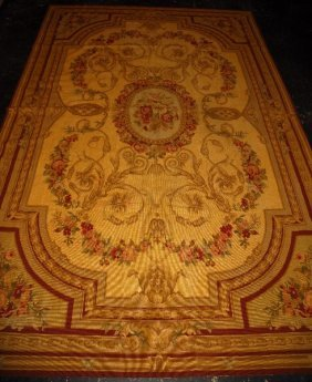 """Aubusson Tapestry Rug. 8' 9"""" X 5' 8"""" (105"""" X 68"""""""