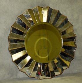 """Mid-century Sunburst Mirror. D: 34"""""""