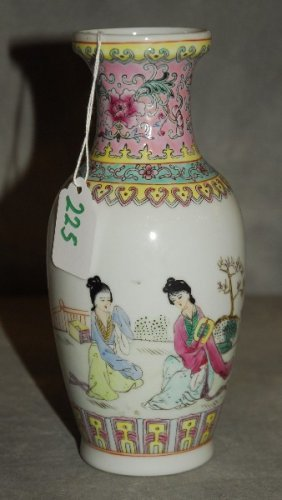 Chinese Republic Period Porcelain Vase With Calligraphy