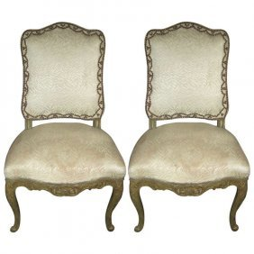 Pair Of Maison Jansen Painted Louis Xv Style Side