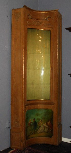 Large 19th C. Carved And Vernis Martin Painted Corner