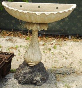 Grotto Cast Stone Garden Dolphin Planter