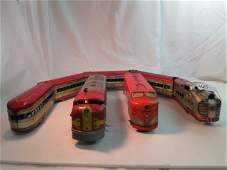 Three Vintage Marx Train Engines 6000 Southern