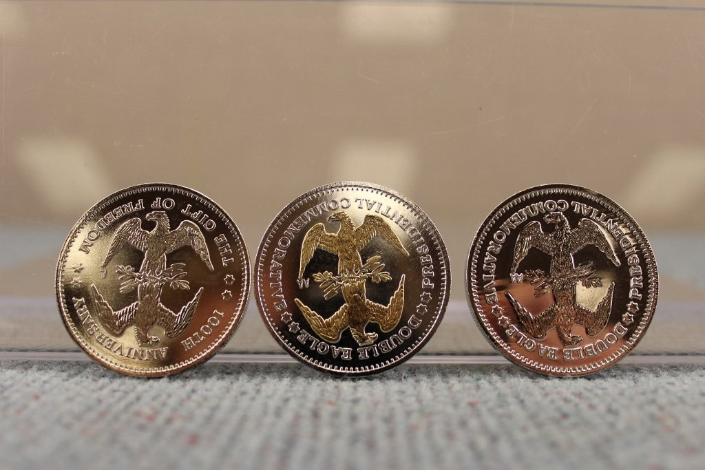 National Historic Mint .999 Silver 24k Gold Coins - 4
