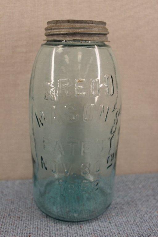 Red Key and Port Half Gallon Mason Jars 1858 - 2