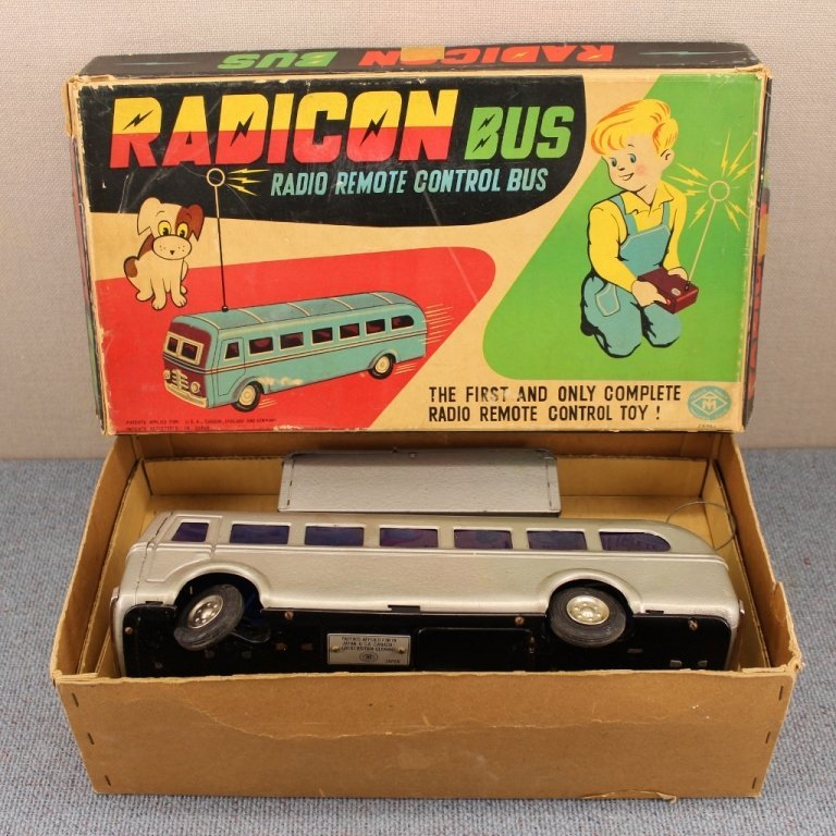 1950's Radicon Remote Control Bus with Box