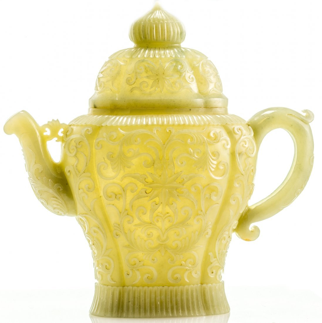 A VERY RARE CHINESE QING DYNASTY (16441911) JADE TEAPOT