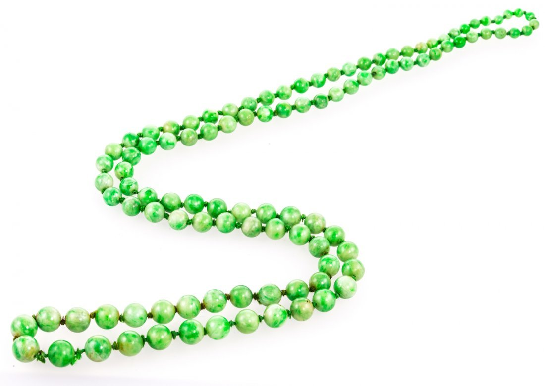 Early 20th Century Jadeite Necklace
