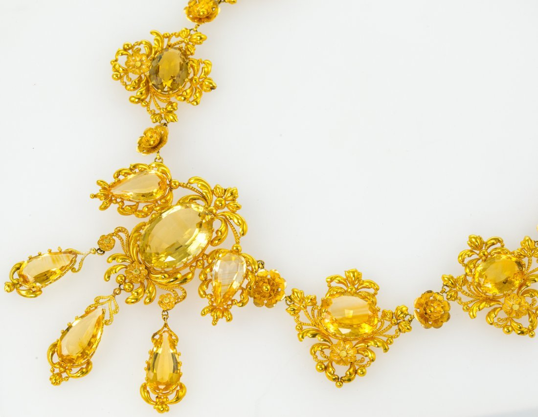 Regency Gold and Citrine Necklace