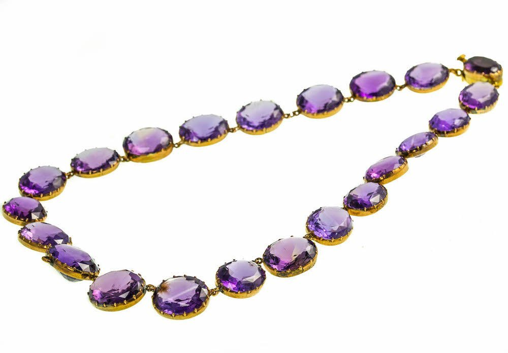 VICTORIAN GOLD AND AMETHYST NECKLACE