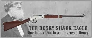 HENRY REPEATING ARMS LEVER SILVER EAGLE 22LR BL/WD AMER