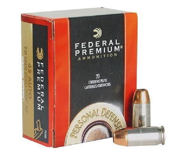 Federal 45 ACP Hydra-Shok JHP 230 GR 20-500 Rounds